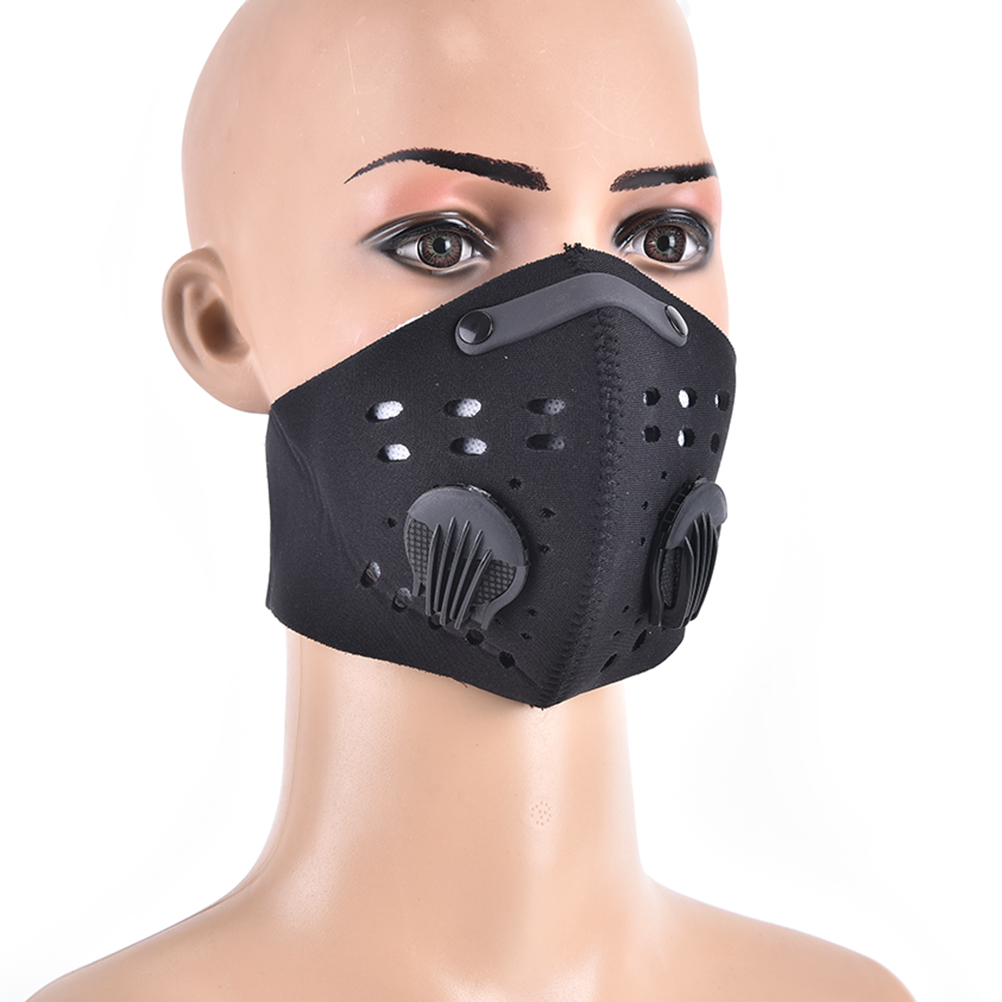 Non-woven Pm2.5 Anti Haze Mask Breath Valve Anti-dust Mouth Mask Activated Carbon Filter Respirator Mouth-muffle Black Mask Face Back To Search Resultsbeauty & Health