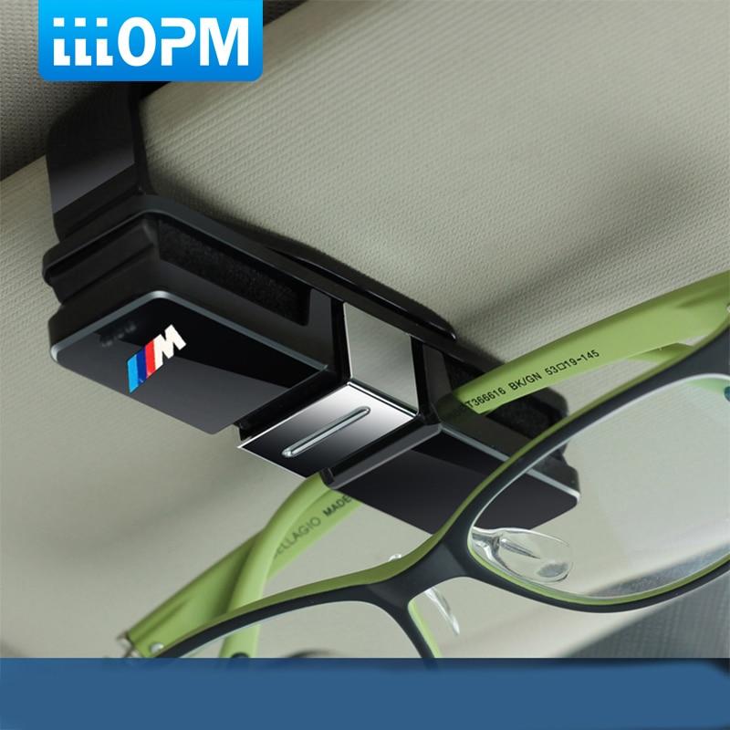 Car SunGlasses Holder M Emblem Stickers for BMW E46 E39 E90 E36 F30 F10 X5 E35 E34 E30 F20 E92 E60 E61 F11 F34 Z4 X1 X3 X5 X6 M5