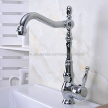 цена на Basin Faucets Chrome Brass Deck Mounted kitchen faucet Bathroom basin faucet sink Faucet Mixer Tap Kna931