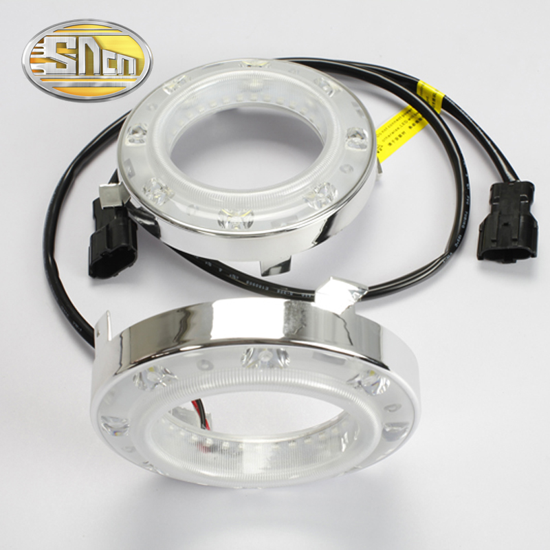 SNCN LED Daytime Running Light For Subaru Forester 2009 - 2011 2012,Car Accessories Waterproof ABS 12V DRL Fog Lamp Decoration 2009 2011 year golf 6 led daytime running light