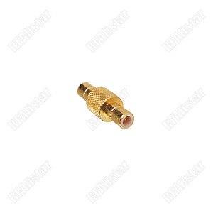 Macho aéreo do adaptador do smb do rf ao adaptador chapeado ouro do conector da tomada masculina de smb em-série