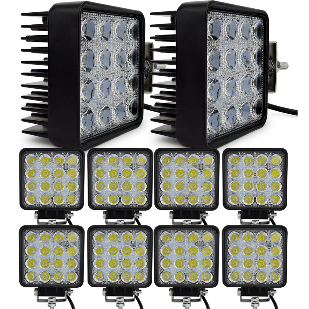 10pcs 4INCH 48W LED WORK WORKING DRIVE DRIVING LIGHT LAMP Epistar for OFFROAD 24V 4WD BOAT SUV TRUCK TRAILER 48W Work Light amt9518 10 4 inch