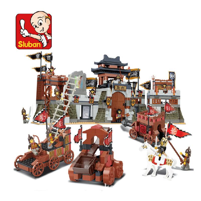 SLUBAN 0267 New Romance of the Three Kingdoms Battle of Jingzhou Building Block Set 3D Construction Brick GIFT Toys DIY sluban 0267 new romance of the three kingdoms battle of jingzhou building block set 3d construction brick gift toys diy