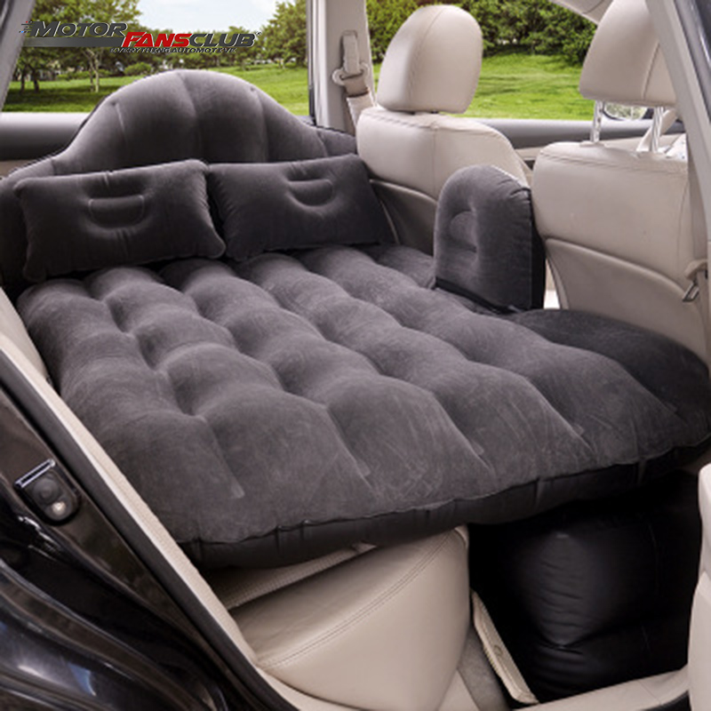 90*140cm Universal Car Travel Bed Air Mattress Inflatable Rear Seat Cover Camping Sofa Pillow Outdoor Cushion With Pump