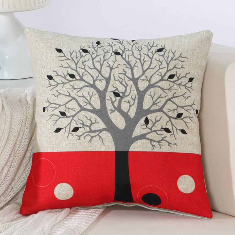 18x18 cal 45*45 cm nowy moda nowoczesny kreatywny drzewo luksusowe poduszka Home zestaw wypoczynkowy z powrotem Cusions samochodu biuro Nap reszta poduszki do rzucania