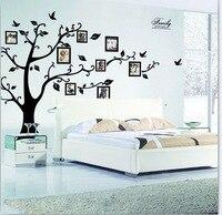 و كبير 200*250 سنتيمتر/79 * 99in الأسود 3d diy صور شجرة pvc جدار الشارات/لاصق الأسرة ملصقات الحائط غرفة المعيشة جدارية الفن ديكور المنزل