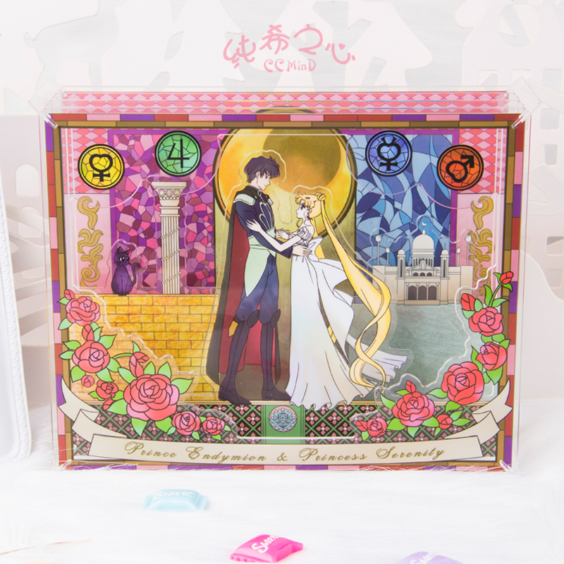 Pretty Soldier Sailor Moon Sailormoon Anime Including 4 Pieces Acrylic Card Stand ...