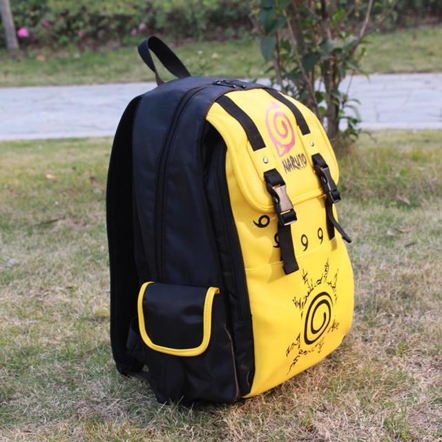Naruto Yellow Waterproof Backpack