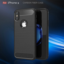 YIFUTE 2017 For iPhone 8 Case New Luxury Carbon Fiber Phone Cases Soft Anti-Knock Anti-Skid Cover For iPhone 8 Case Capa Coque