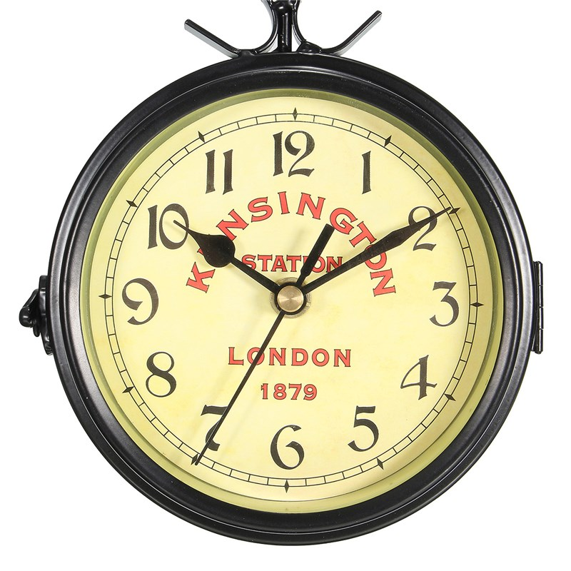 Charminer Vintage Decorative Double Sided Metal Wall Clock Antique ...