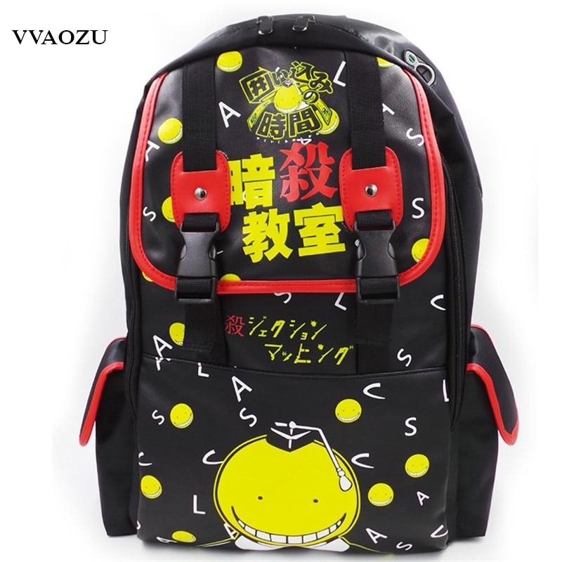 Hot Japan Cartoon Assassination Classroom Koro Sensei Backpack Anime Parasyte Cosplay School Bags Tokyo Ghoul COS Shoulder Bag new canvas kaneki ken school bags anime cartoon tokyo ghoul bag travel backpack