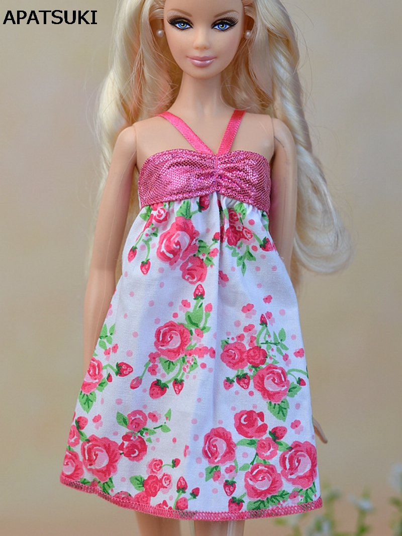 っPink Fashion Doll Clothes Pretty A-line Casual Dress For Barbie ...