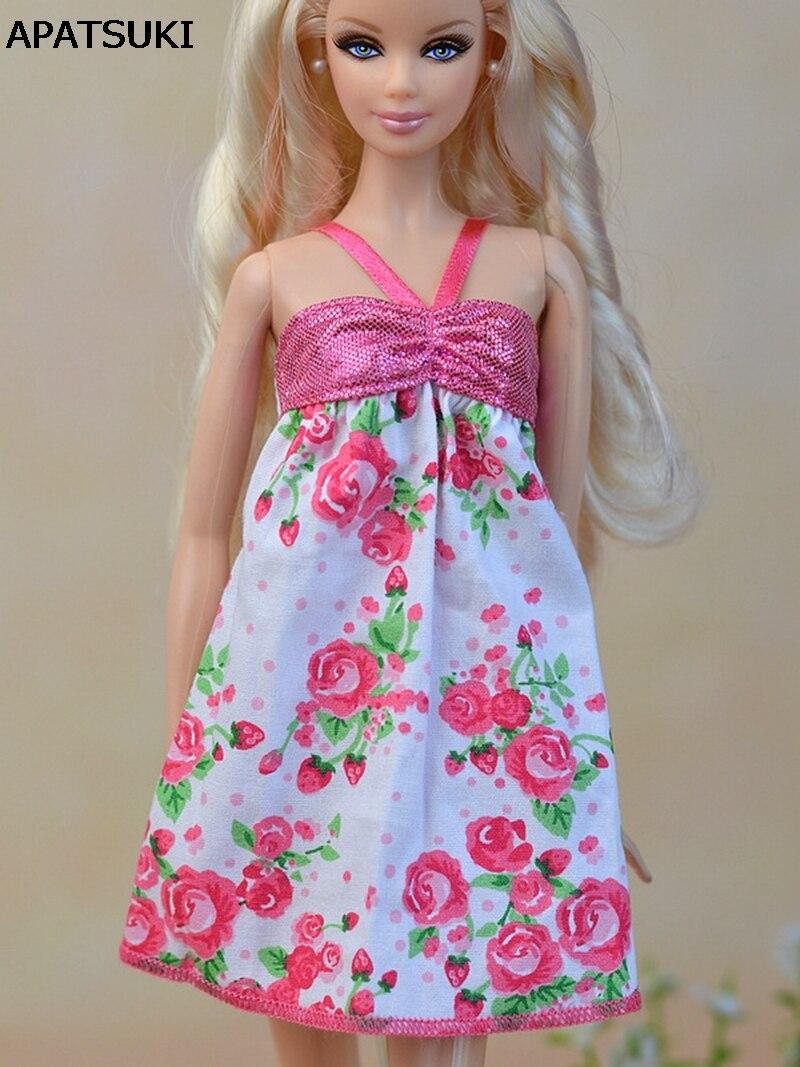 ღ ღRopa de muñeca de moda Rosa pretty una línea casual vestido ...