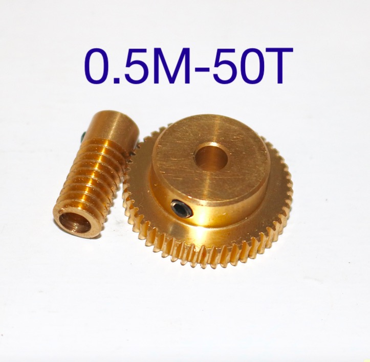 0.5 mold 50Teeths  Worm Gear High Speed Reduction Ratio 1:50-Remote Control Toys Steering Gear Worm Gear Combination high tech and fashion electric product shell plastic mold