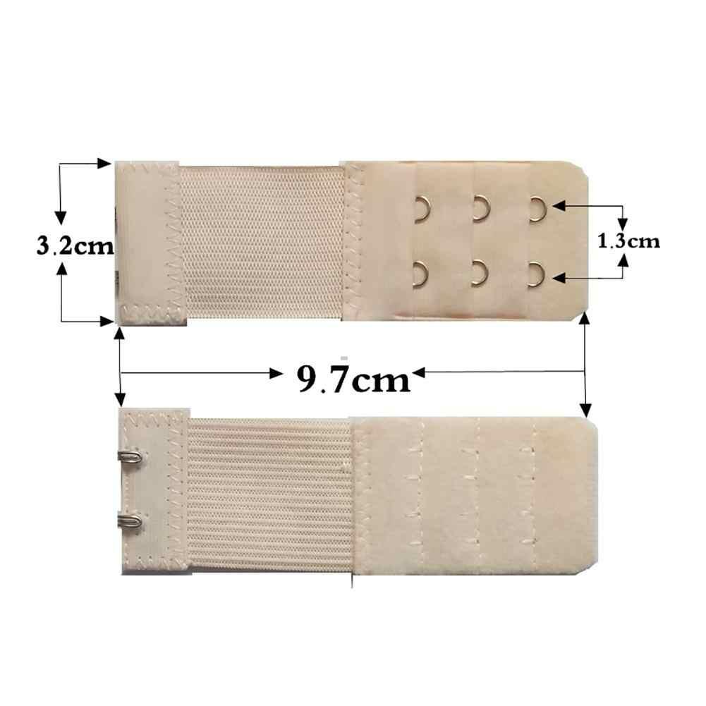 3 PCS ยืดหยุ่นสามแถวสองหัวเข็มขัด Bra Extension หัวเข็มขัดสแตนเลสหญิงตั้งครรภ์ชุดชั้นใน Bra ยาว Buckle #