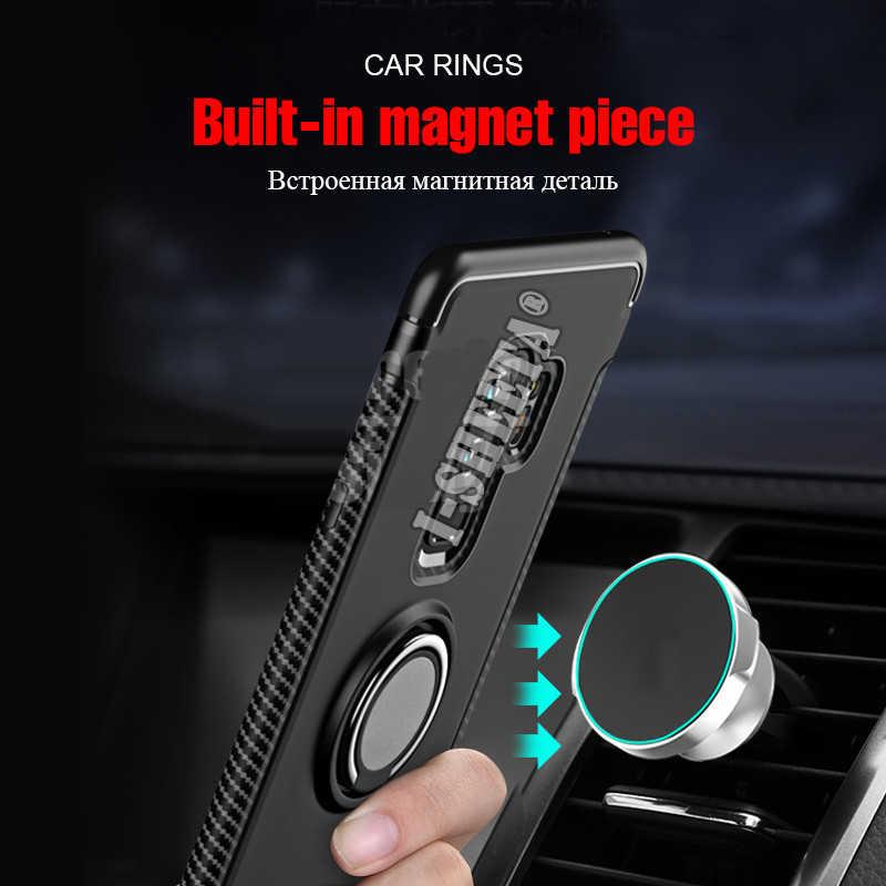 Роскошный мягкий силиконовый чехол-бампер из ТПУ для samsung Galaxy J4 J6 Plus Prime противоударный жесткий чехол 360 металлическое кольцо-Держатель подставка