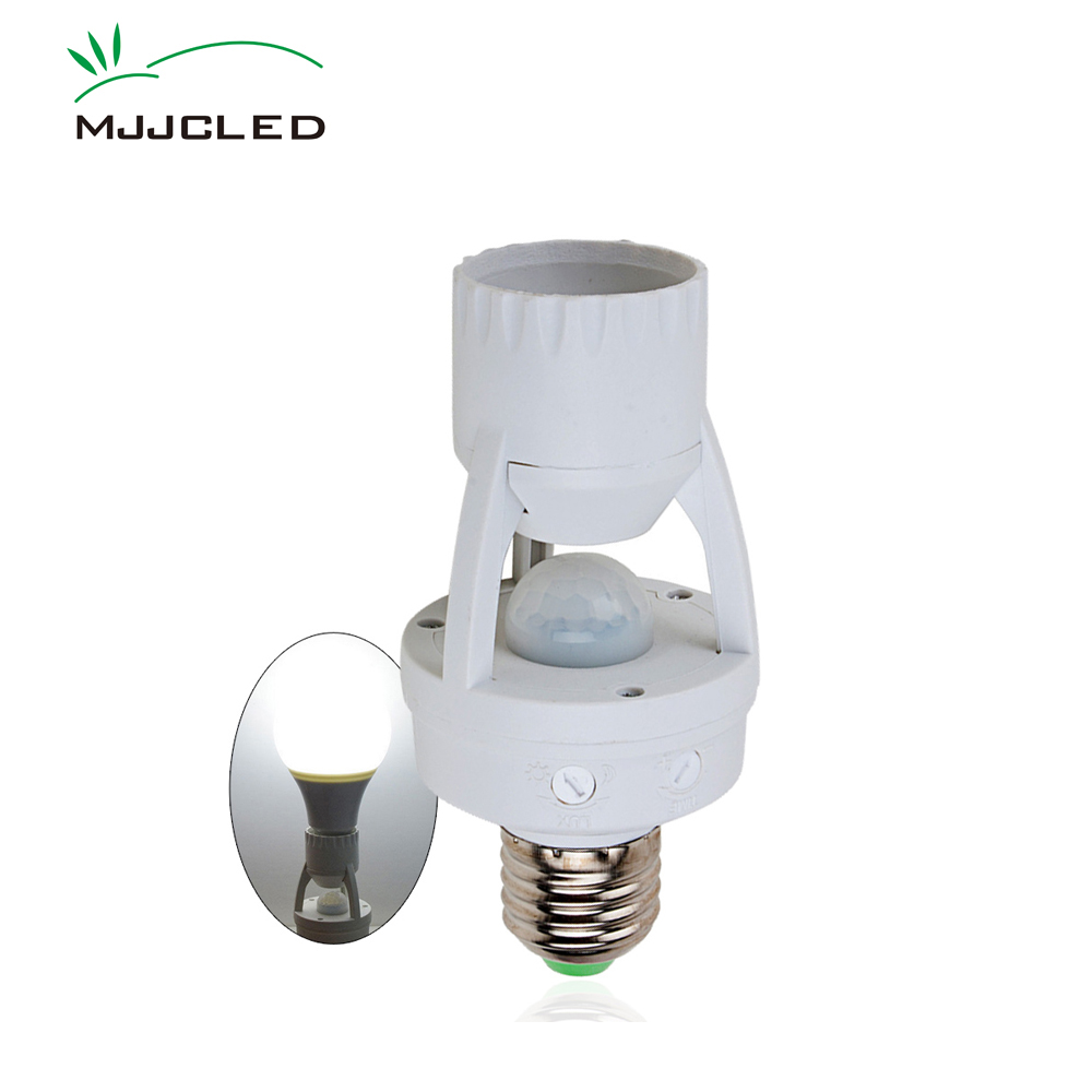 E27 Motion Sensor Light Control Timer Switch 110V 230V 220V E27 Base Lamp Holder IR Infrared Human Induction Sensor Motion