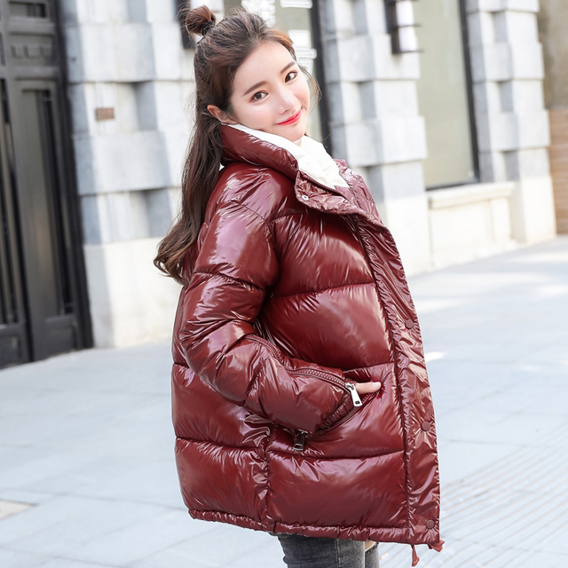 Winter Jacket Women parka Ultra Light Down No Hat Long Sleeve Warm Slim Coat Parka Female Solids Outwear abrigos mujer invierno