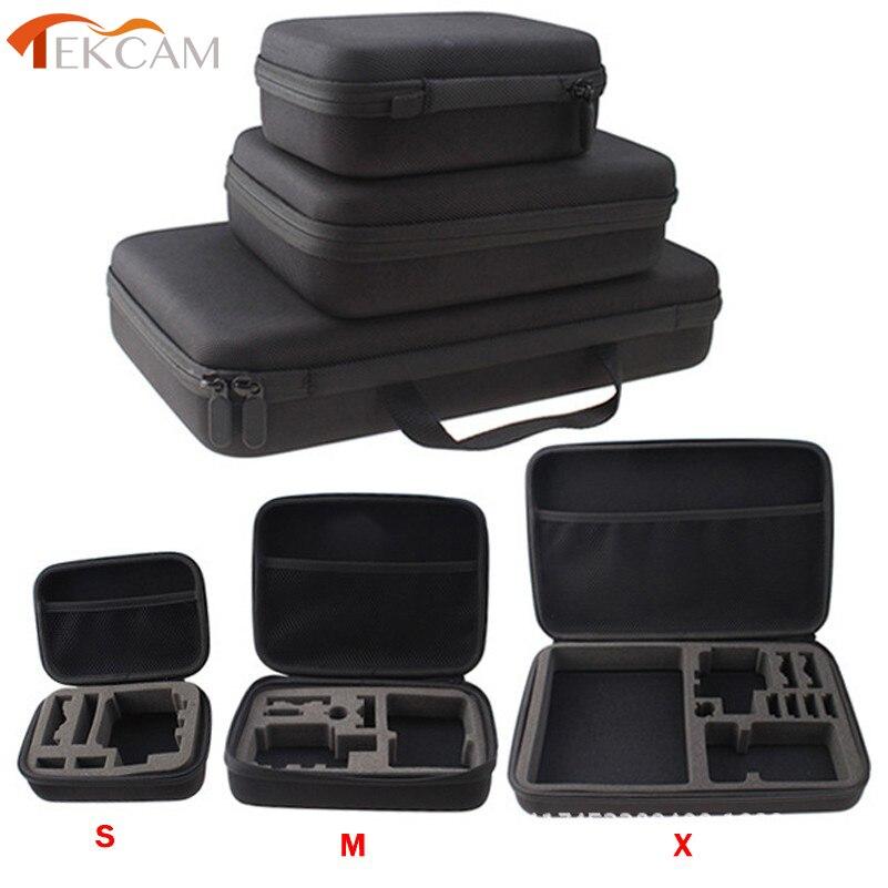 Tekcam para SJCAM accesorios de viaje de almacenamiento caja de bolsa de cámara para SJ6 leyenda SJ7 estrella GOPRO HERO 5 Xiaomi YI 2 4 k Cámara de Acción