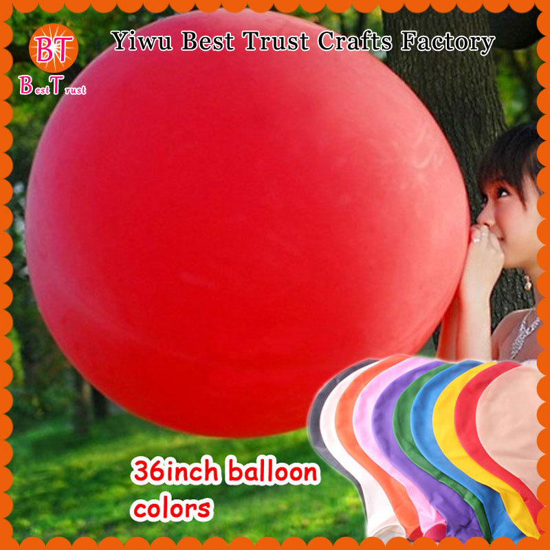 High Quality Kids Helium Latex Giant Balloon Birthday Wedding Party Decor Balloons 36 inch Multi Color Wholesale 200pcs