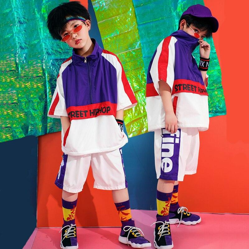 44185f606 Cheap Traje de baile de Jazz púrpura para niños niñas Hiphop ropa de  actuación de Jazz