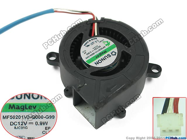 цена на Free shipping For SUNON MF50201V3-Q000-G99 DC 12V 0.9W 3-wire 3-pin 50x50x20mm Server Blower fan