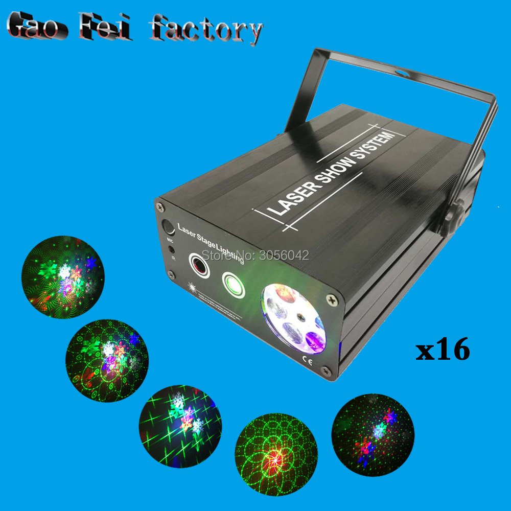 16pcs/lot Mini 2in1 Whirlwind R G Laser Projector Stage Disco DJ Club KTV whirlwind