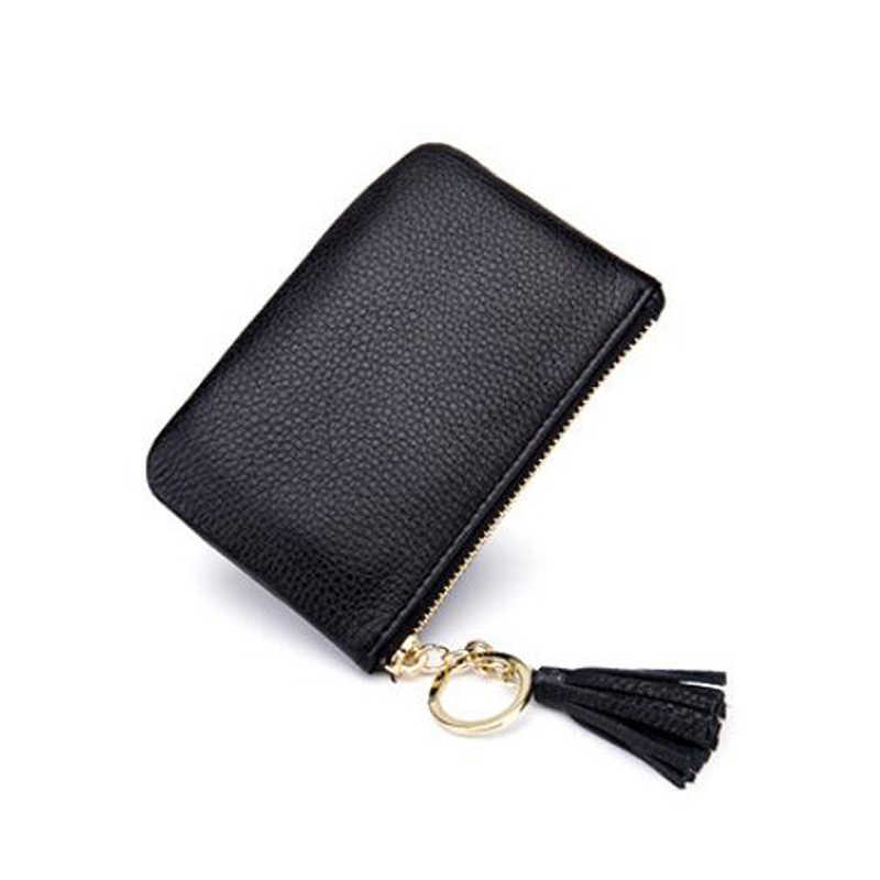 2018 Marca de Moda Couro Genuíno Coin Bolsas Mulheres Homens Zipper Saco de Mini Bolsa Da Moeda Da Carteira