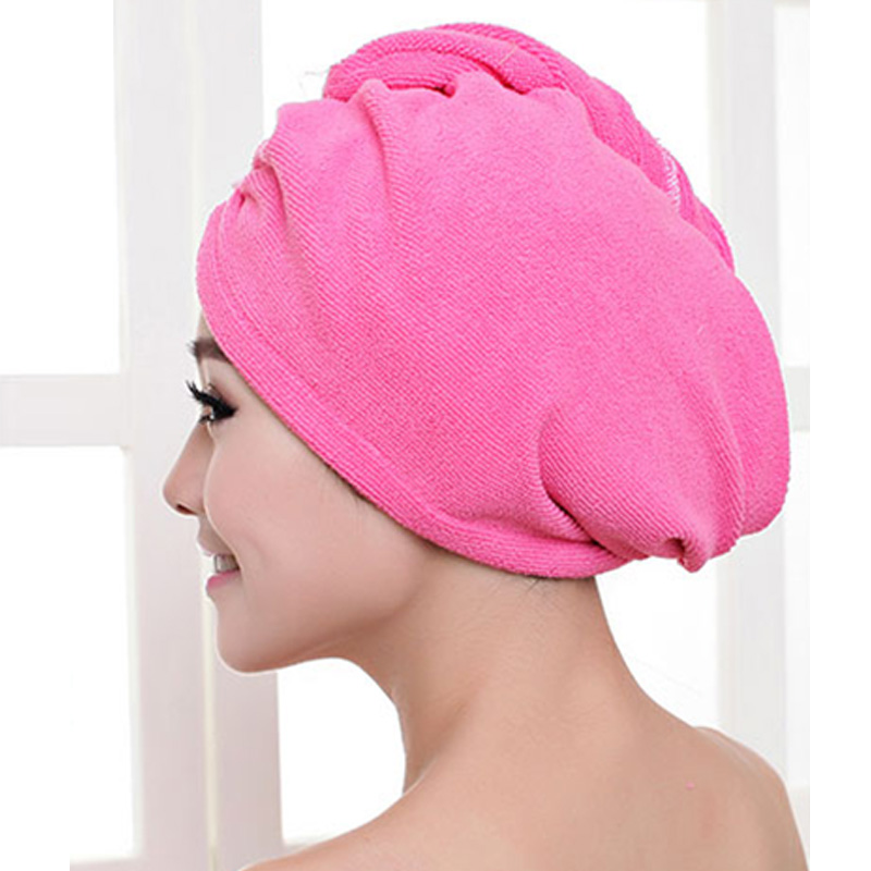 Hair Towel Women Bathroom Super Absorbent Quick-drying Thicker microfiber Bath Towel Hair Dry Cap Salon Towel