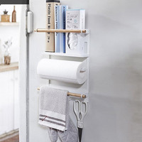 Magnetic Adsorption Refrigerator Storage Holder Creative Simplicity Wall mounted Iron Magnetic Suction Kitchen Paper Towel Shelf