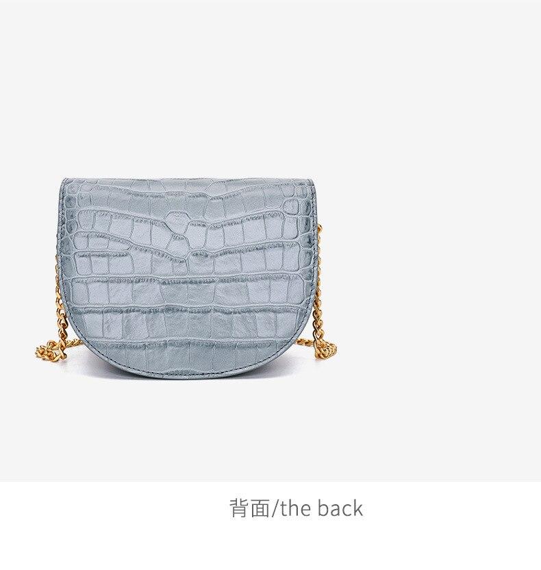 Luxo mini rodada saco Mulheres Bolsa do Couro Genuíno cadeia de Mulheres do desenhador Sacos Do Mensageiro Do Ombro Pequena Bolsa Da Embreagem Bolsa bolsos mujer - 4