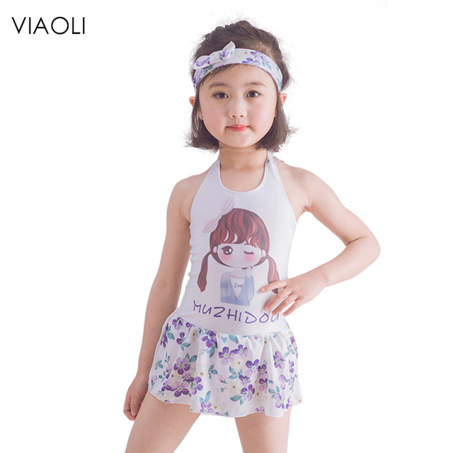 a3c67feb79576 VIAOLI 2018 bikini new swimwear children cute baby girls swimsuit Siamese skirt  swimwear spa bathing suit beach