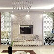 Стиль 40x100 см 3D рыбья чешуя зеркальные настенные наклейки для гостиной, столовой, входного ТВ украшения стены