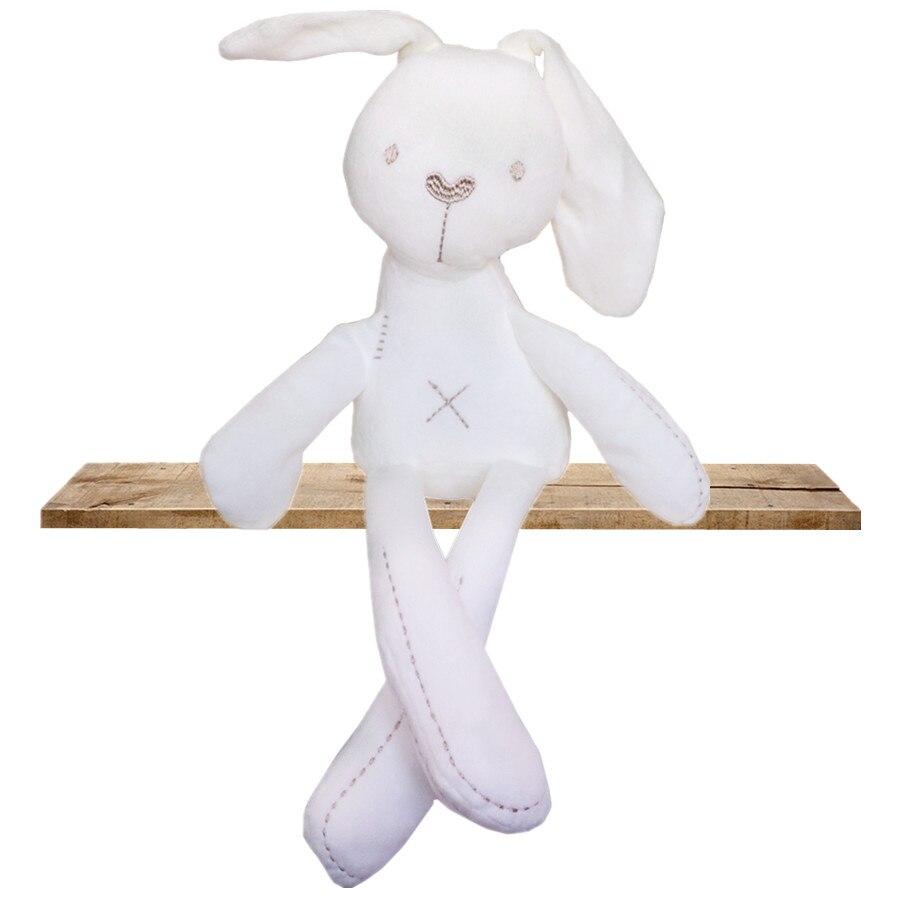 Baby Gift Registered Mail Hot Sale Cute Baby Kids Animal Rabbit Sleeping Comfort Doll Plush Toy Lovely Monkey кровать comfort plush 152х203х56см со встроенным насосом 220в intex 64418