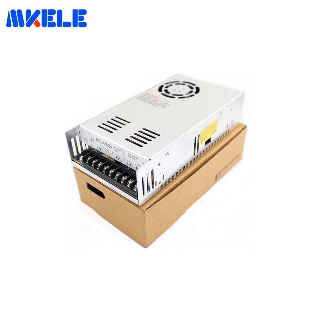 DC alimentation commutation Mini taille MS-500 500 W 41A 12 V 24 V pour DC12V 24 V tension transformateur AC-DC SMPS avec panneau d'affichage - 6