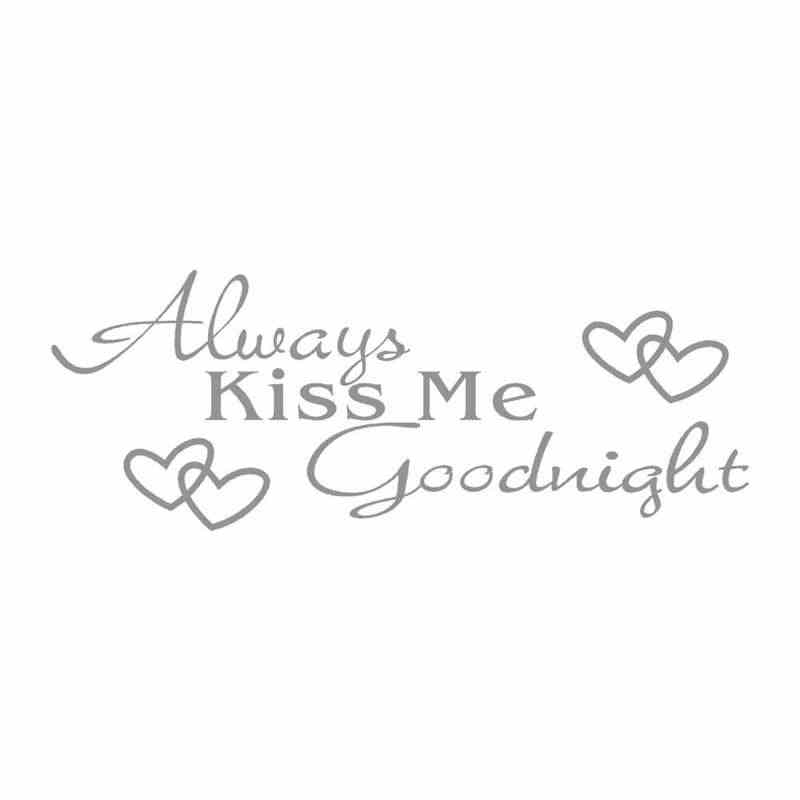 "NAIYUE ""Always Kiss Me Goodnight"" Home Decor Wall Sticker Decal Bedroom Art Room Decor 3d Stickers Planet Acrylic Mirror 19feb11"