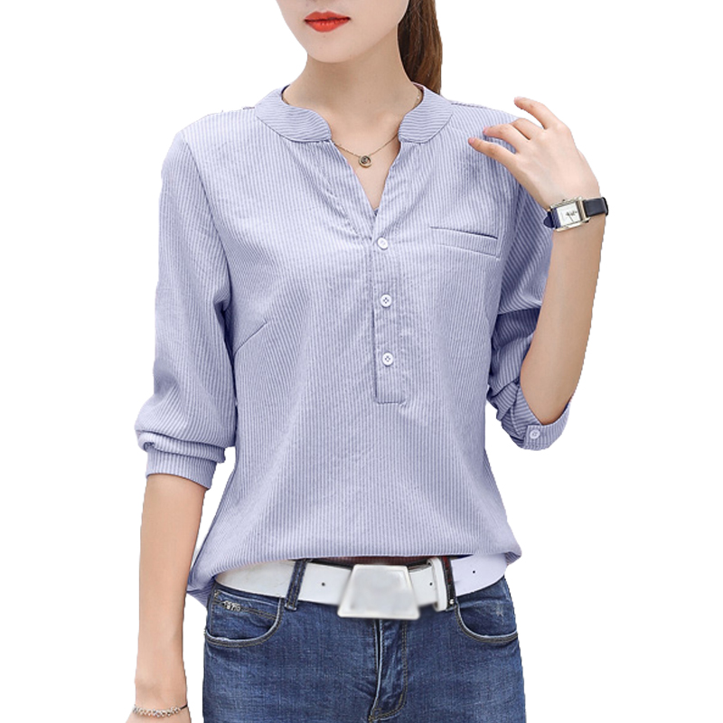 New 2018 cotton   Blouse     Shirt   Women Spring Solid Tops Plus Size 3XL Long Sleeve Casual Fashion   Shirts   Blusas feminina boho Red