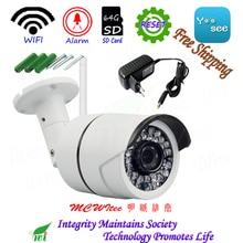 Из Металла H.265 сброса Wi-Fi ip-камера HD 1080 P 720 P безопасности Камера с кронштейном ONVIF P2P IP Cam Ночь ИК карта CCTV SD RTSP открытый сигнализации