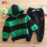 ZOFZ 2pcs Set Children Girl Hoodies 100 Cotton Fashion Baby Girl Sweatshirt Autumn Outwear Set Children