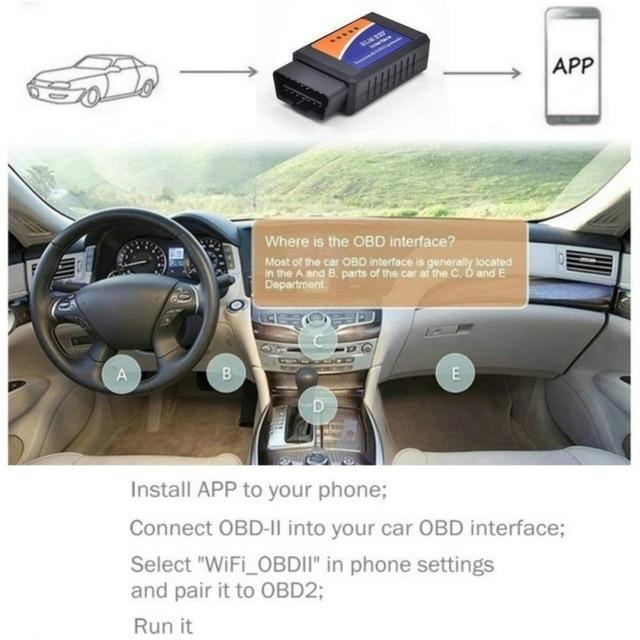 Big Promo 2018 V1.5 Elm327 Bluetooth 2.0 Adapter Obd2 Elm 327 Auto Diagnostic Scanner For Android Elm-327 Obd 2 ii Car Diagnostic Tool
