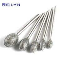 3mm natürlich genarbtem G typ bits kugel typ 4/5/6/8/10/12mm Diamant schleif bits peeling kopf schleifen trimmen polieren bits
