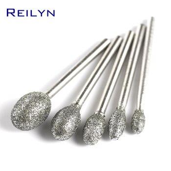 3mm course grained G type bits bullet type 4/5/6/8/10/12mm Diamond abrasive bits peeling head grinding trimming polishing bits