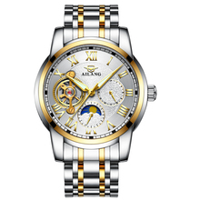 AILANG caliente hombres Mecánico Automático Tourbillon relojes de Moda Del Reloj Del Deporte Del Ejército Impermeable Brillante de Lujo de Acero Completo