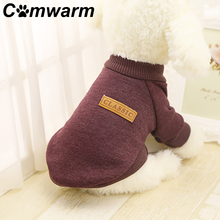 Comwarm Pet Winter Sweater Dog Pet Dog Clothes Warm Knitted Cotton Dogs Jacket Coat Teddy Soft Sweater Pet Supplies
