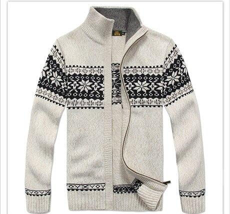 NIANJEEP бренда толщиной Нью белого и синего цвета серый Для мужчин с длинным рукавом Зимние Свитеры для женщин Пальто и куртки человек 30% шерст...