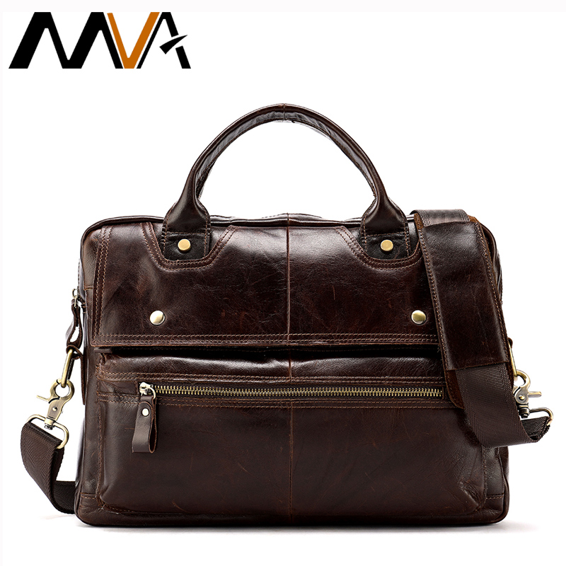 MVA Messenger Bag Men's Genuine Leather Casual Crossbody Bags for Men Shoulder Bag Men Bags Business Leather Man Handbags 8508 genuine leather bag men messenger bags casual multifunction shoulder crossbody bags handbags men leather bag