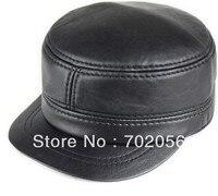 New Real Sheepskin Leather Visors Ball Caps Newsboy Casual HAT CAP 12pcs Lot 3114