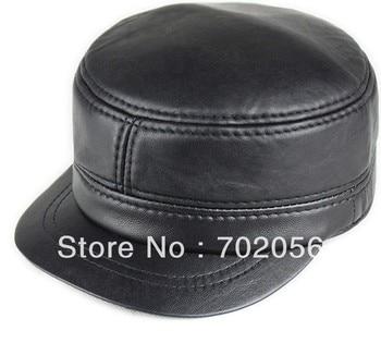 New real sheepskin Leather Visors Ball Caps newsboy casual HAT CAP 12pcs/lot #3114 фото
