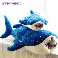 1pc 100/125cm Giant Size Simulation Shark Plush Pillow Cartoon Ocean Whale Fish Dolls Sofa Cushion Stuffed Toys Children Gift