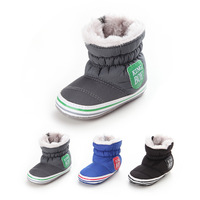 0 18Months Baby Boy Winter Warm Snow Boots Slip Up Soft Sole Shoes Infant Toddler Kids